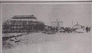 The Pavilion under construction