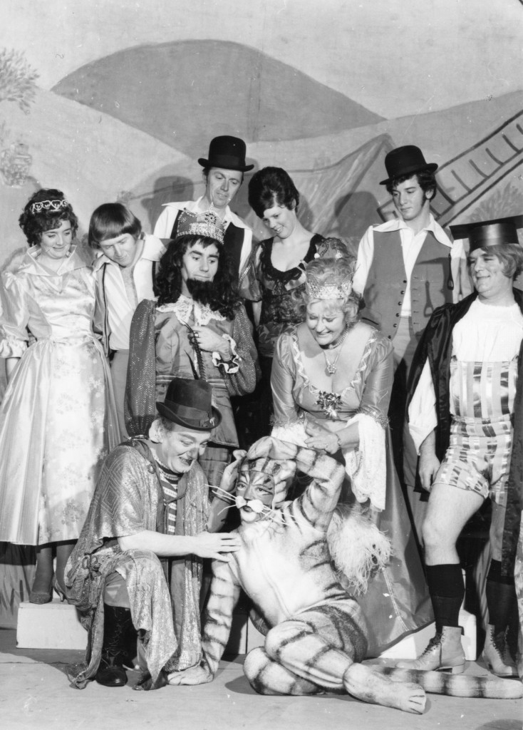 Pantomime Puss In Boots performed in the Town Hall ( now the Princess & Arts Theatre) in 1972
