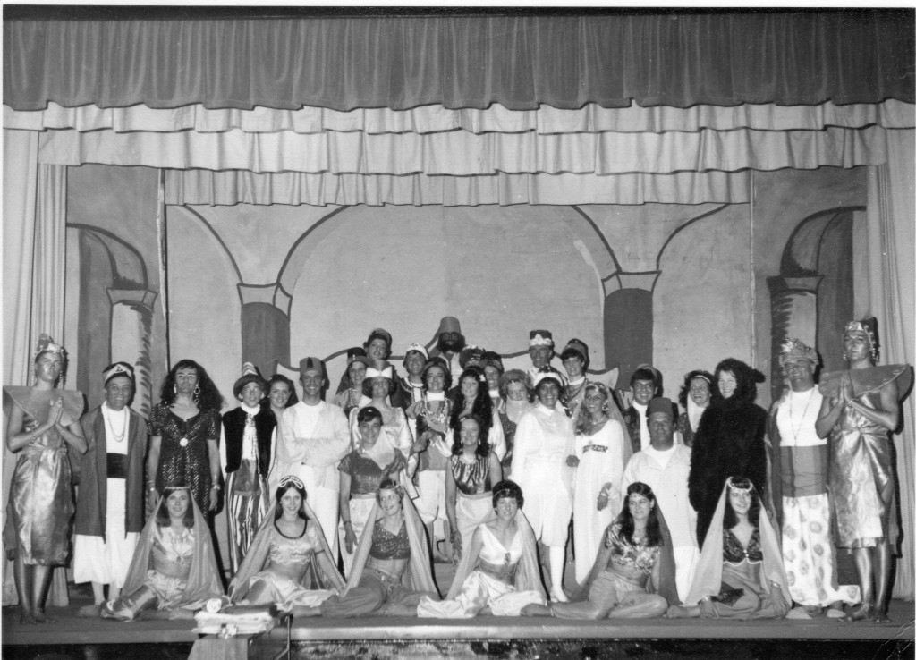 Burnham's Alibaba pantomime performed in 1971