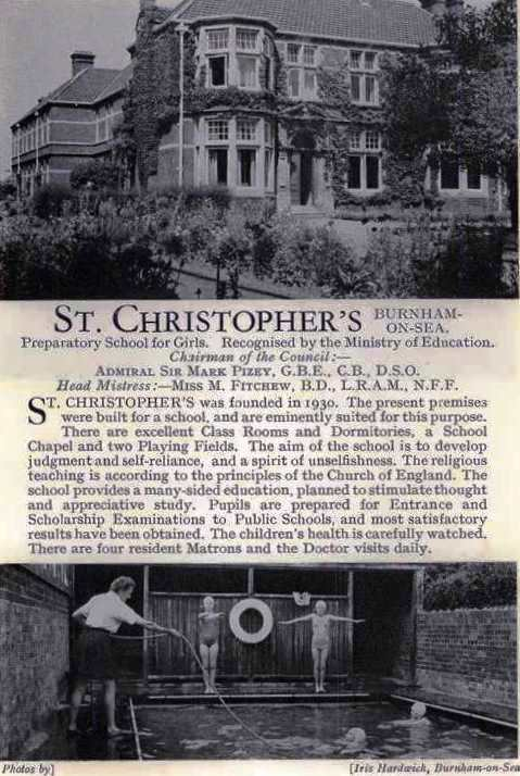 St Christopher's was originally founded as a girls boarding preparatory school by the Misses Watson.