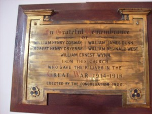 Baptist Church Plaque