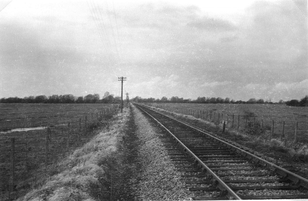 This photo kindly supplied by Glyn Luxon shows how desolate the job of inspecting the line must have been.