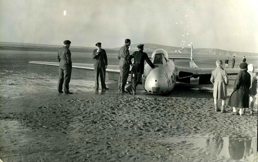 Jet on beach