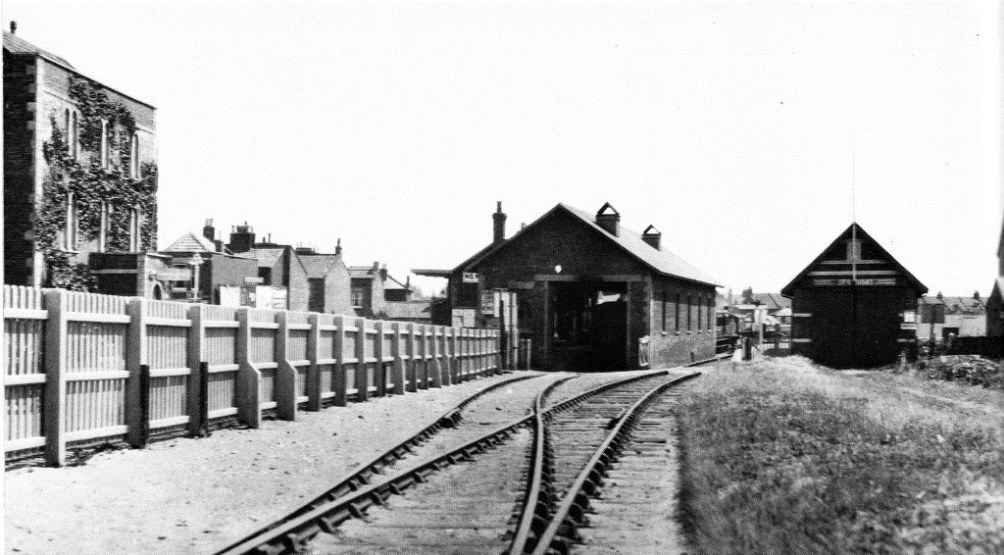 View of station from the original Buffer Stops.