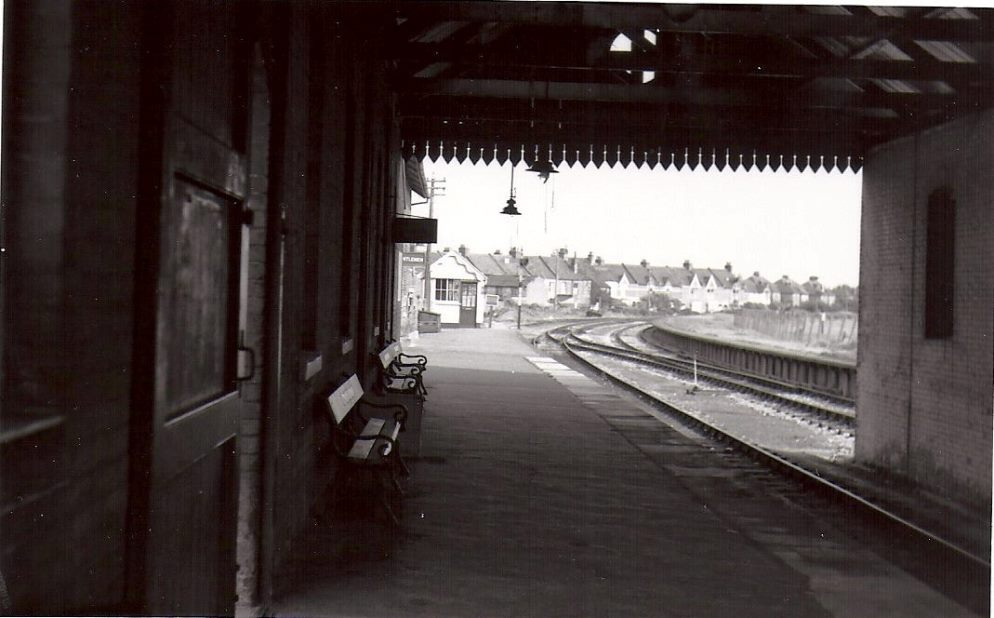Looking East through the station canopy.