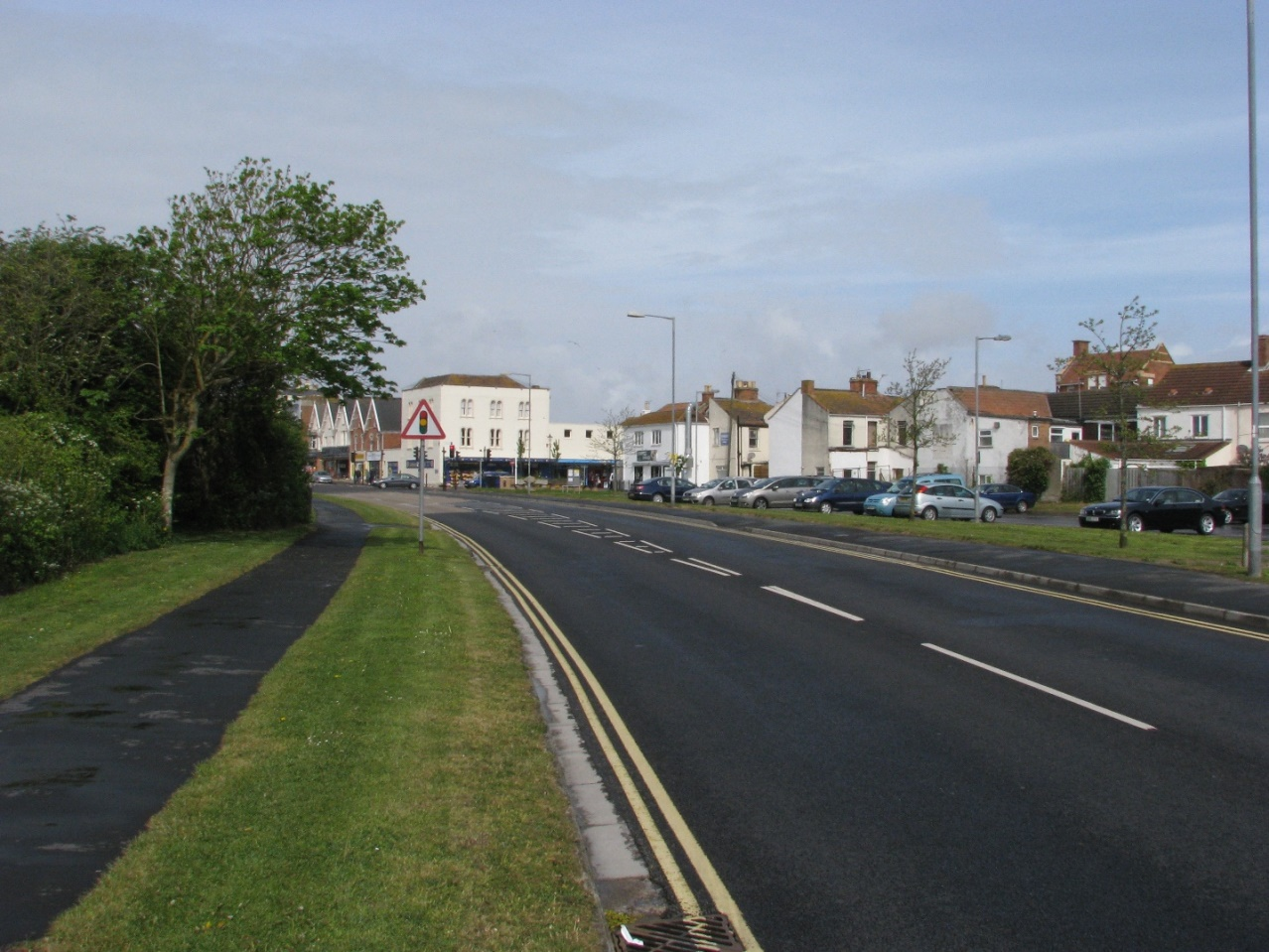 Marine Drive leading into Pier Street in November 2015