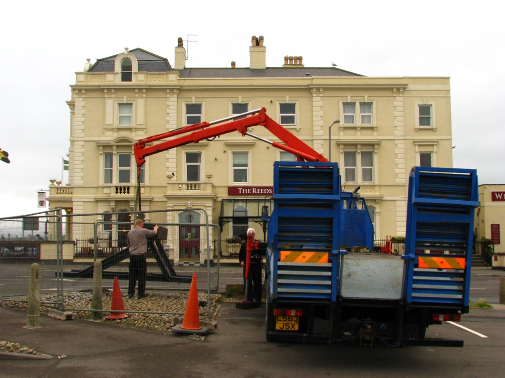 Installing the Buffer Stop Memorial 14th July 2015.