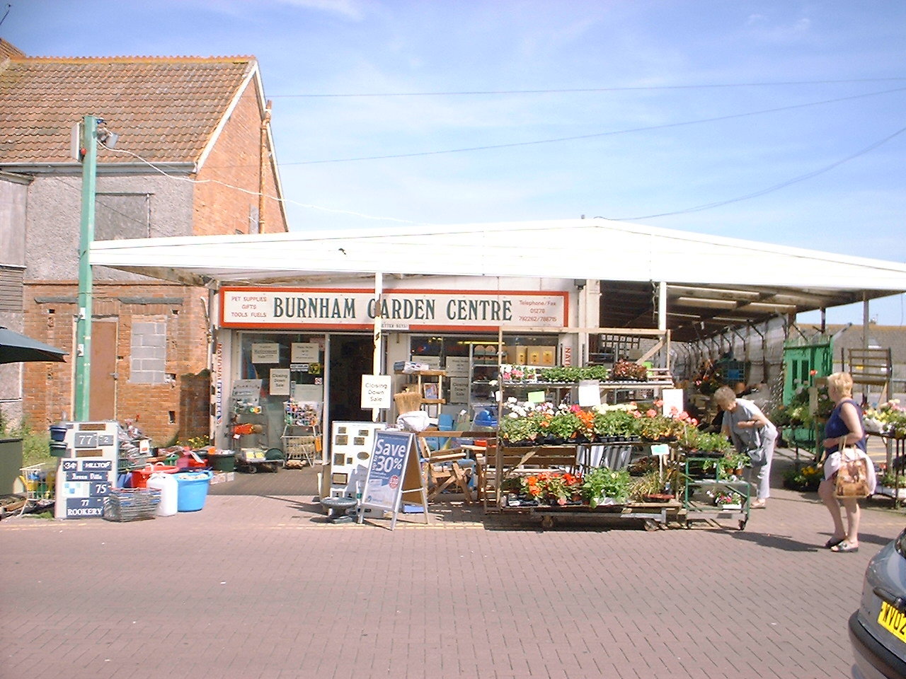 Burnham Garden Centre outside